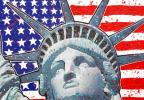 Statue of Liberty (Flag Background)